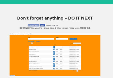Do it Next – organizator activitati online